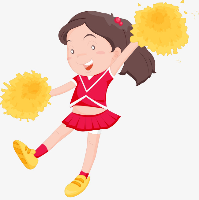 Download Free png Cheerleader Girl, Cartoon, Girl, Cheerleaders PNG.