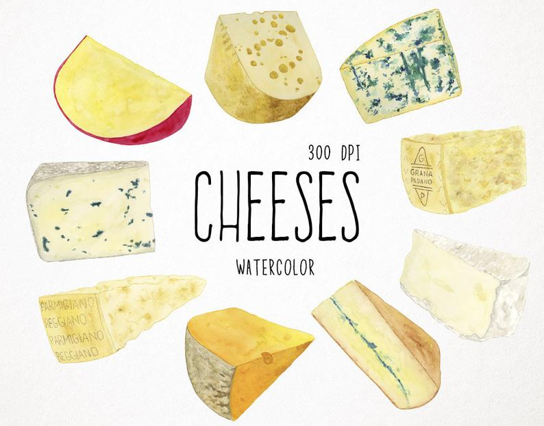 cheese clipart, food clipart, watercolor clipart cheese, cheese clip art,  watercolor food clipart, food watercolor clipart cheese watercolor.