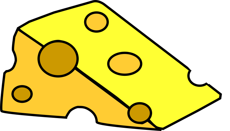 Free Clipart: A piece of cheese.