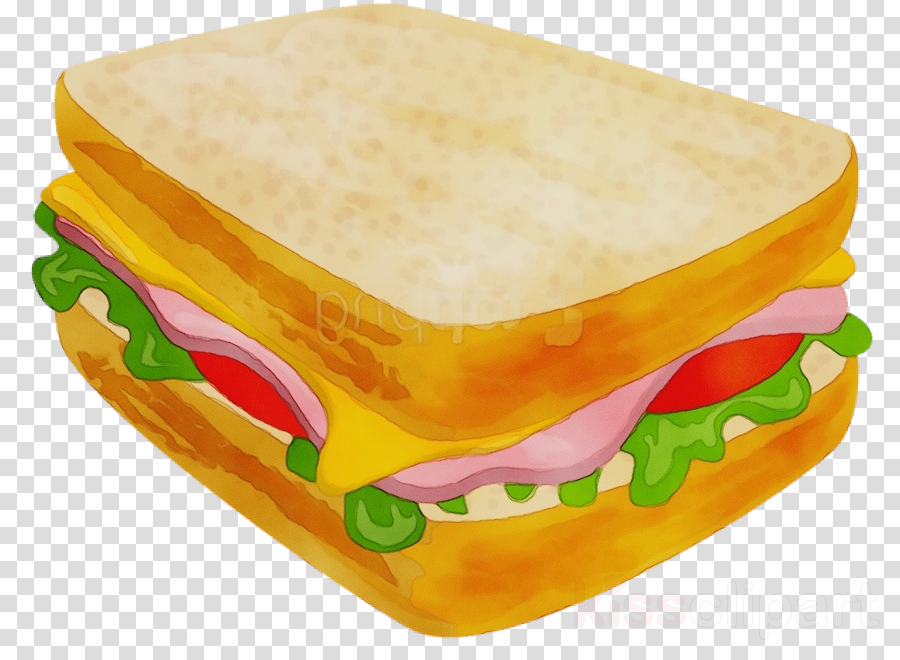 processed cheese sandwich food fast food finger food clipart.