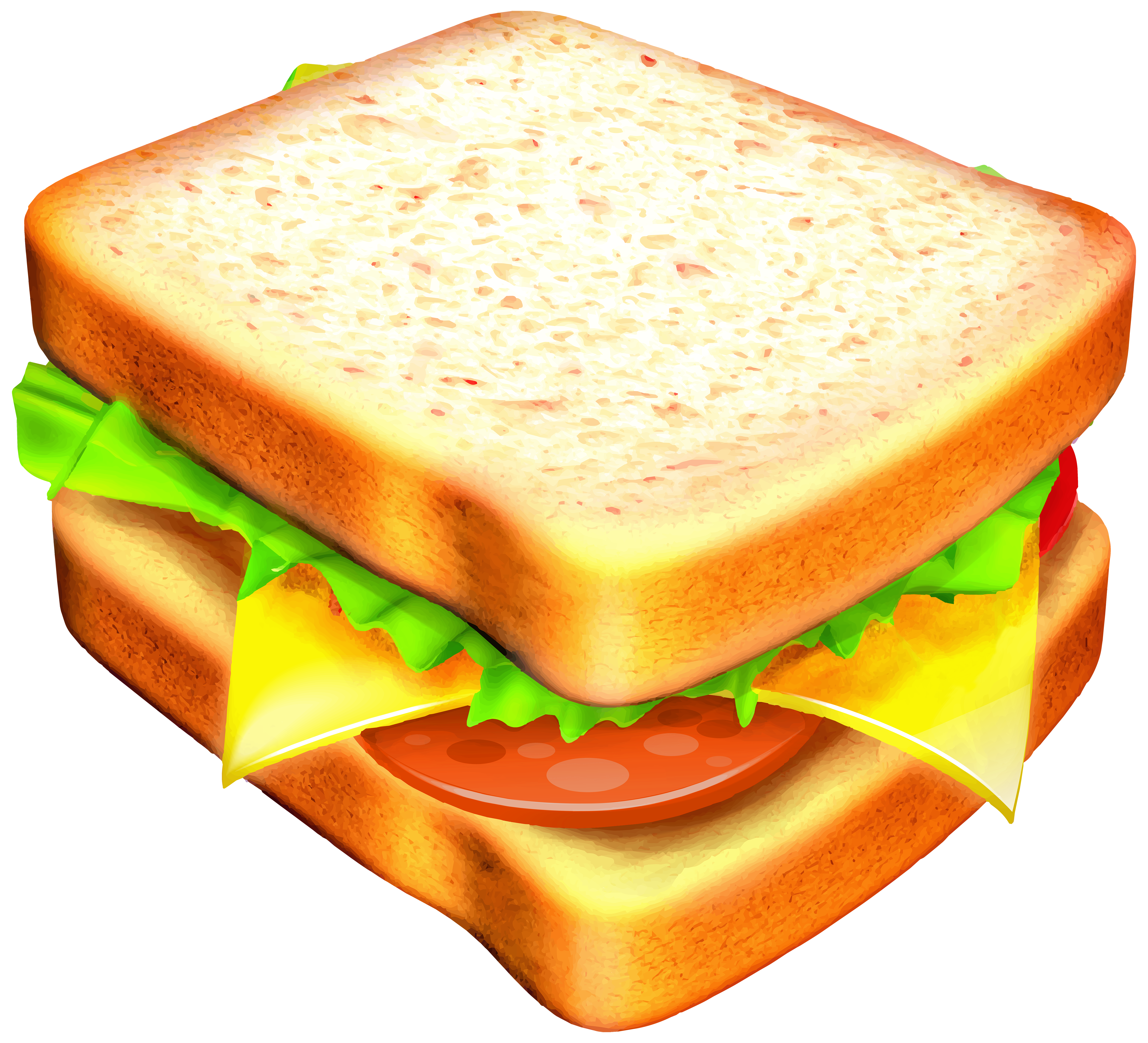 Cheese Sandwich Clipart.