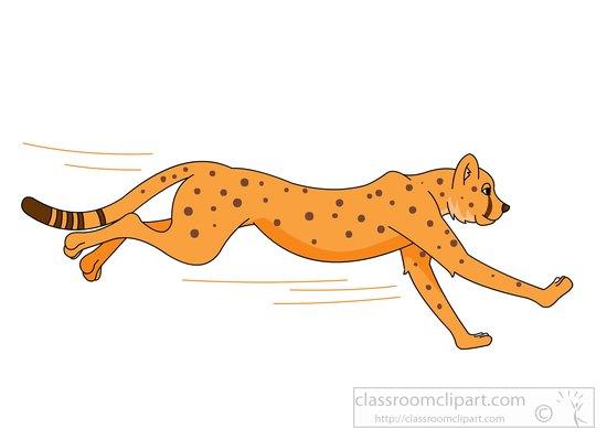 Cheetah clip art 4.