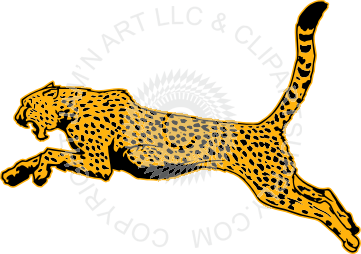 Clipart Cheetah Running.