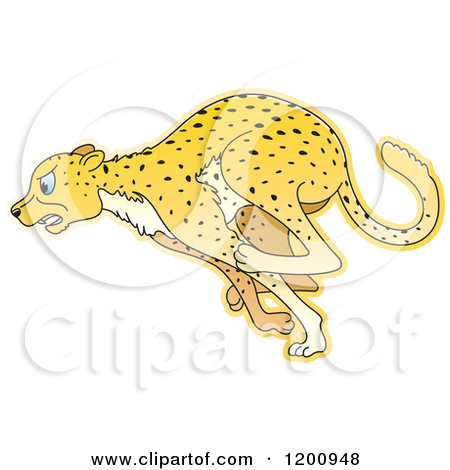 Running Cheetah Hd Clipart.