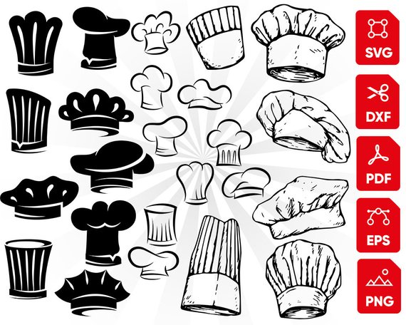 Chef hat svg, kitchen svg, chef svg bundle, chef hat clipart.