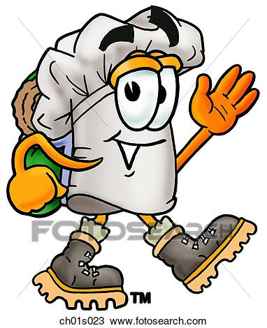 Chef hat hiking Clipart.
