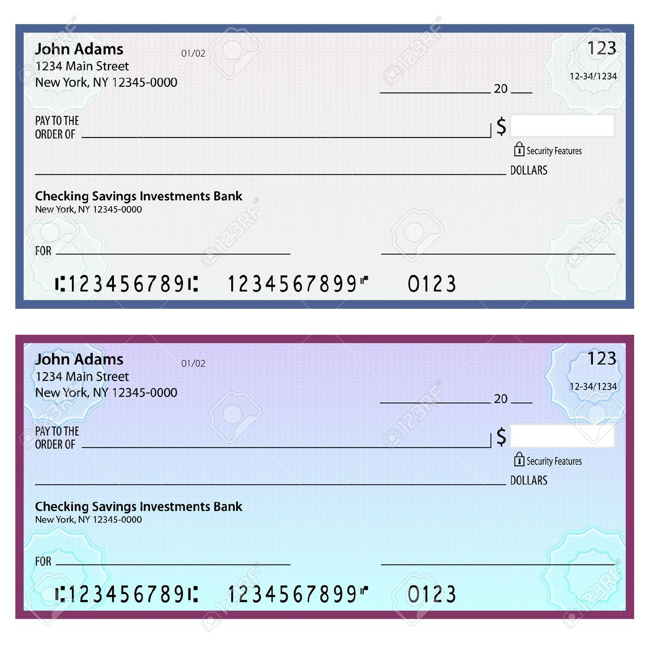 Free Clipart Cheques.