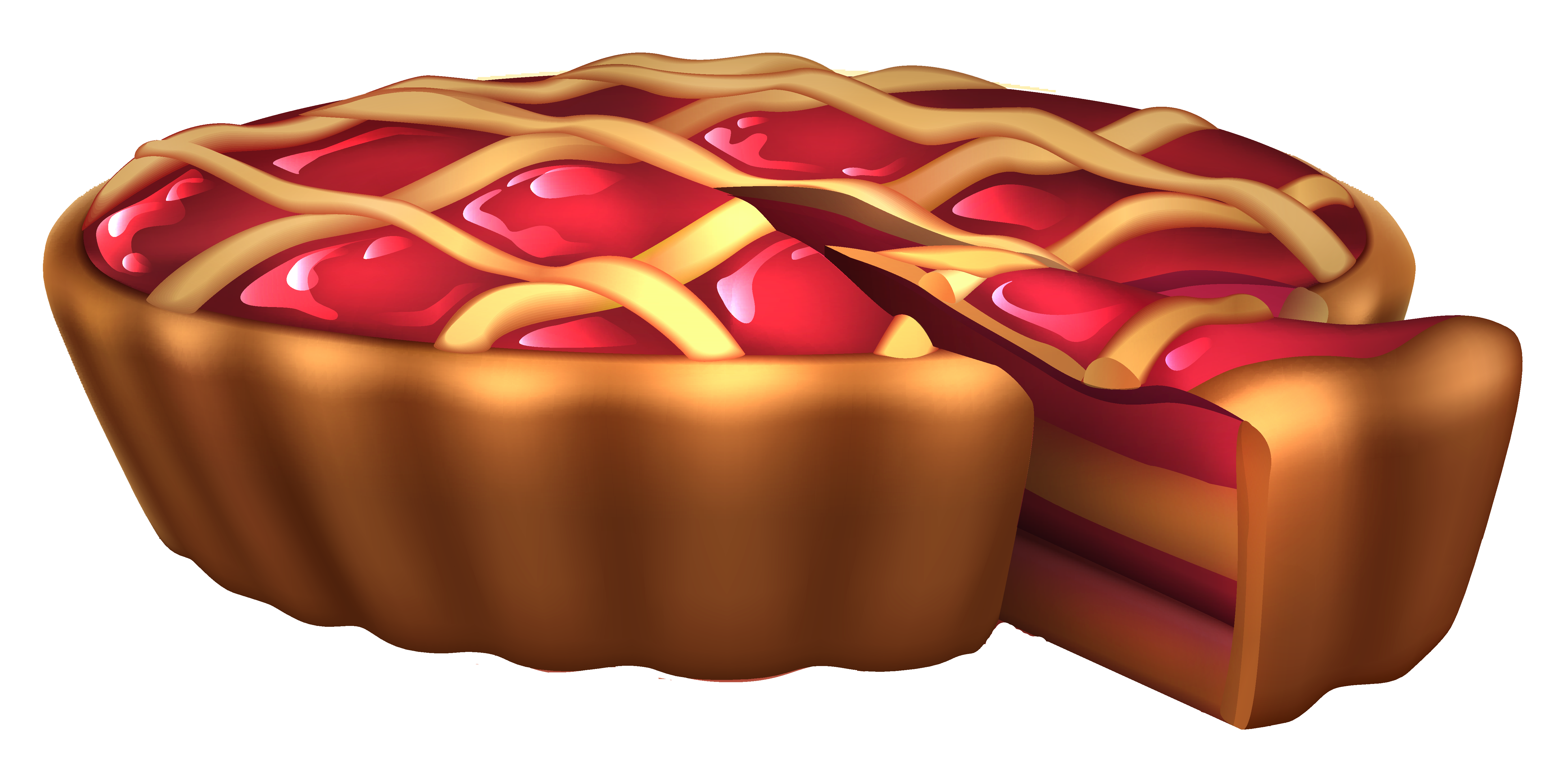Cherry Pie PNG Clipart Picture.