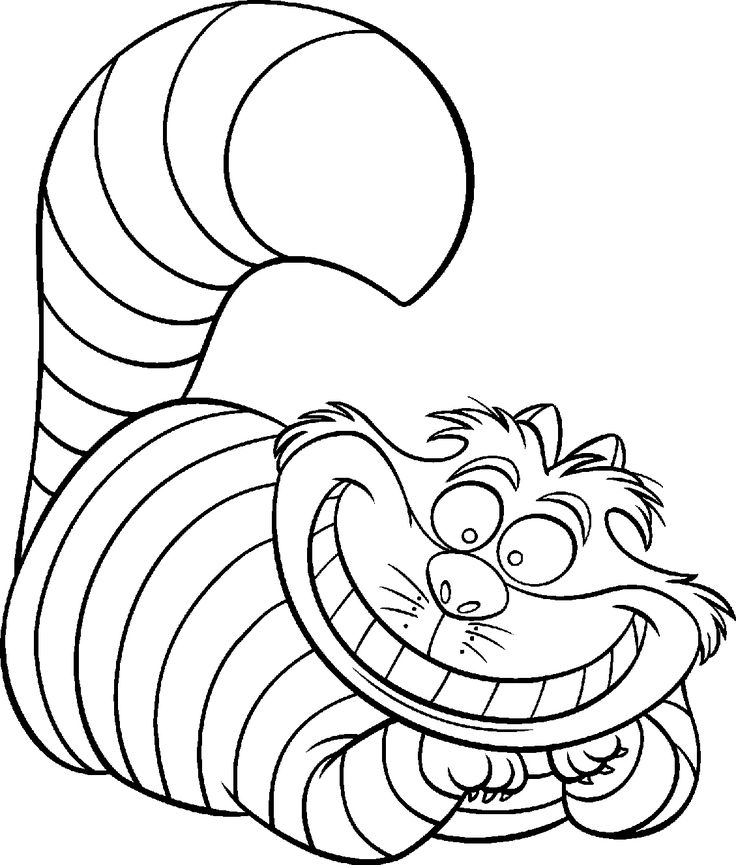 Cheshire Cat Clipart With Black Background.