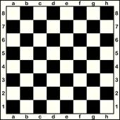 Chess board with letters and numbers Clipart.