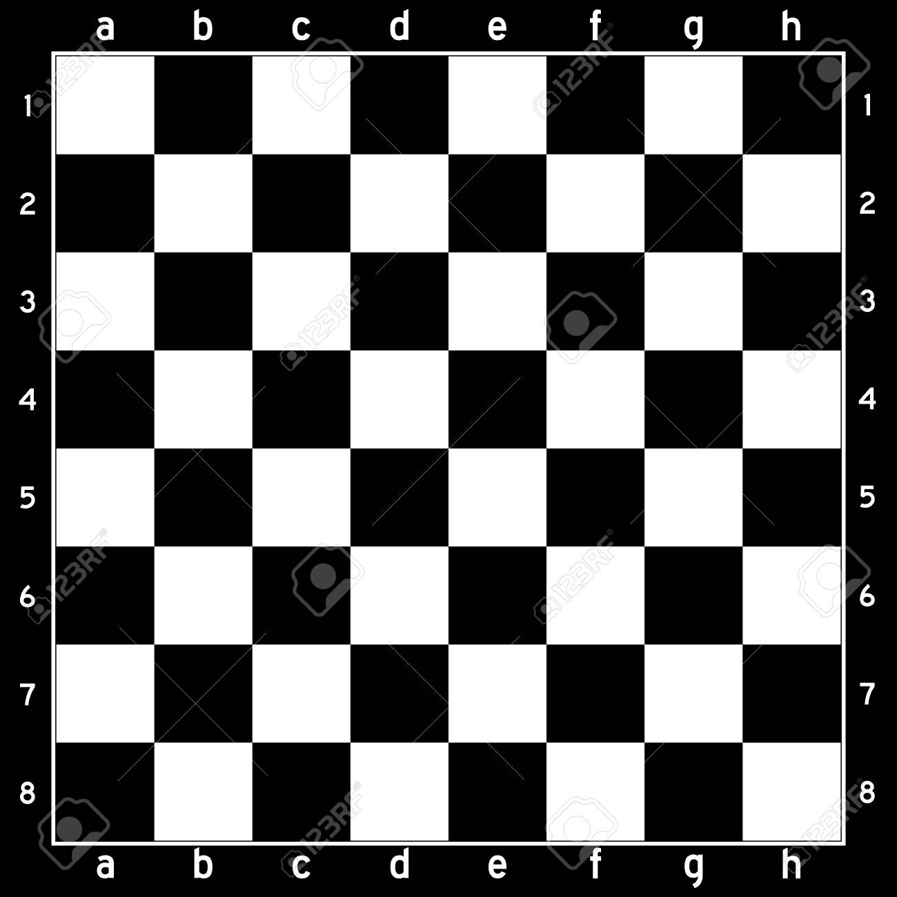 Black and white color chess board game background.