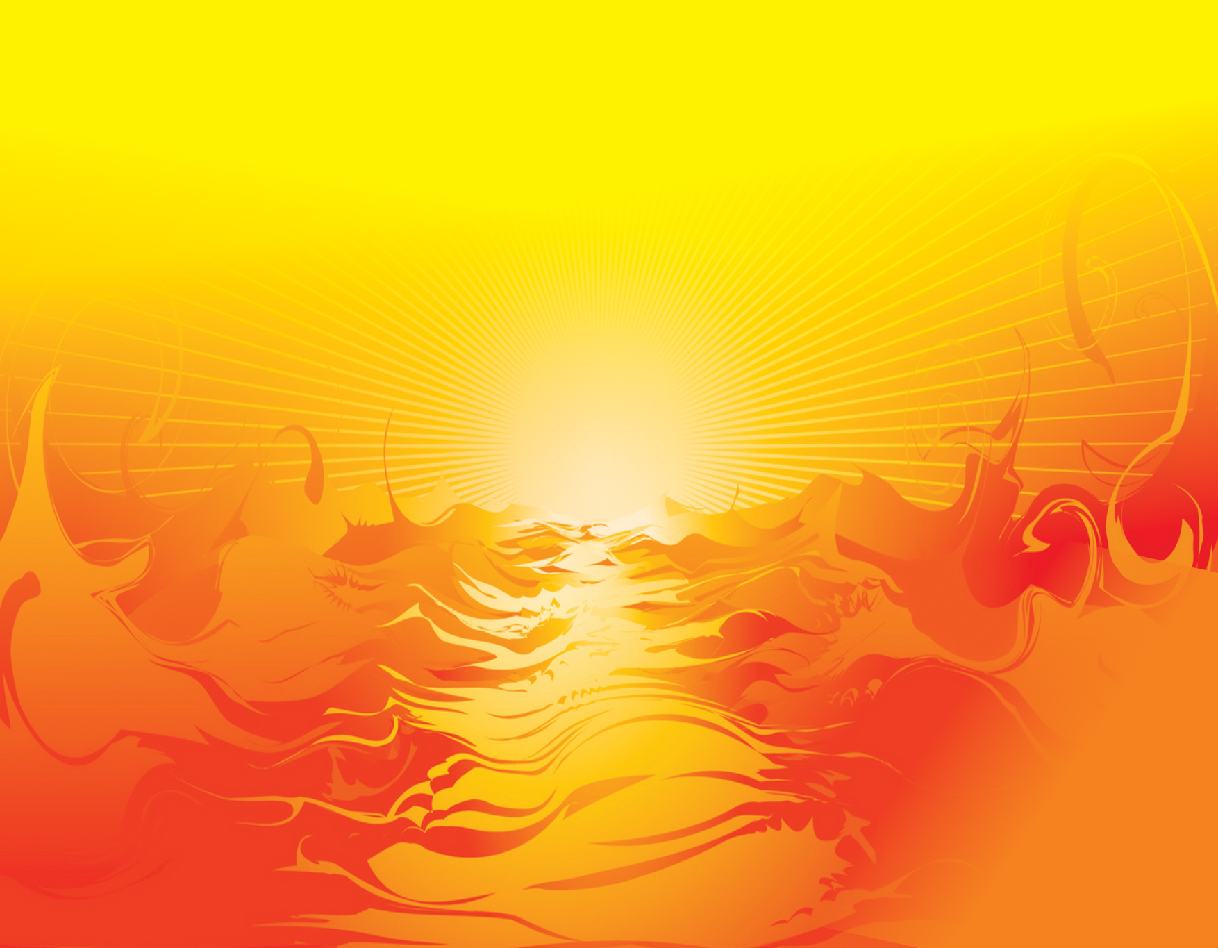Chhath Puja Background sun rise and Clipart red and yellow.