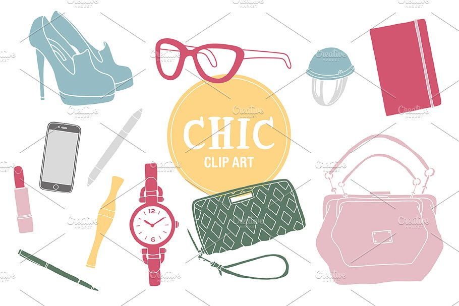 Chic Clipart ~ Illustrations ~ Creative Market.