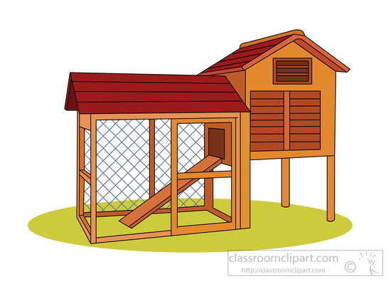 Empty chicken coop clipart » Clipart Station.