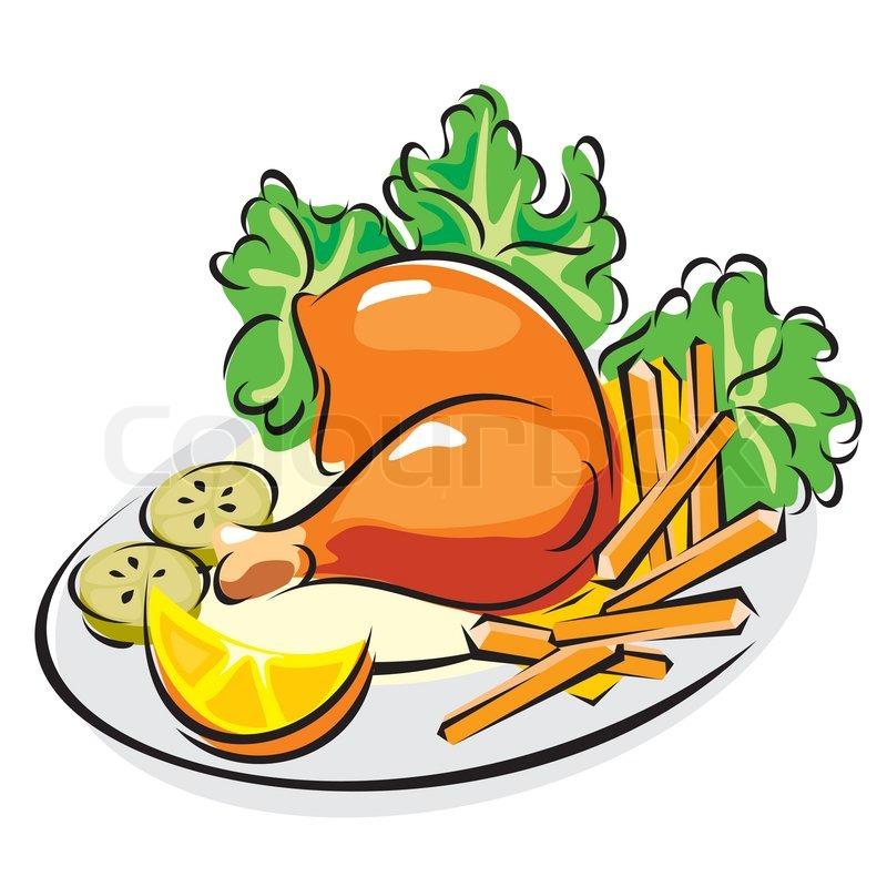 Chicken Dinner Clipart Free.