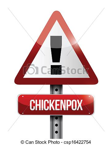 Vector Clipart of chickenpox.