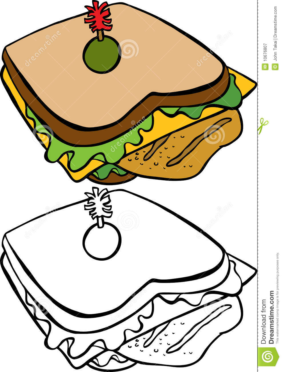 Chicken Sandwich Royalty Free Stock Photography.