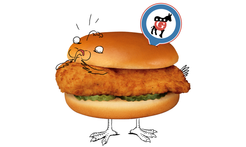 Which DNC Chicken Sandwich Made a <i>New York Times </i>Reporter Sick?.