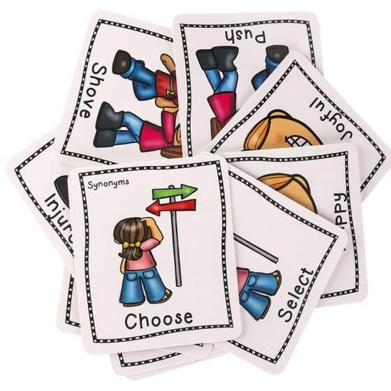 Shop 40 English Synonyms Flash Cards.