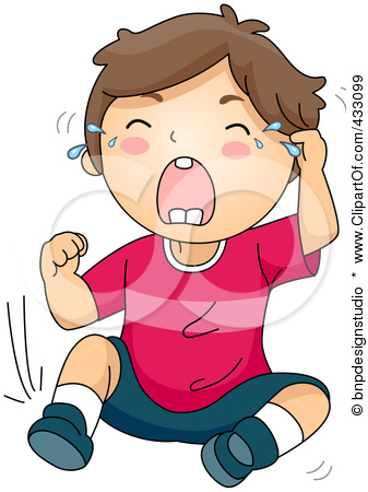 Child Crying Clipart.