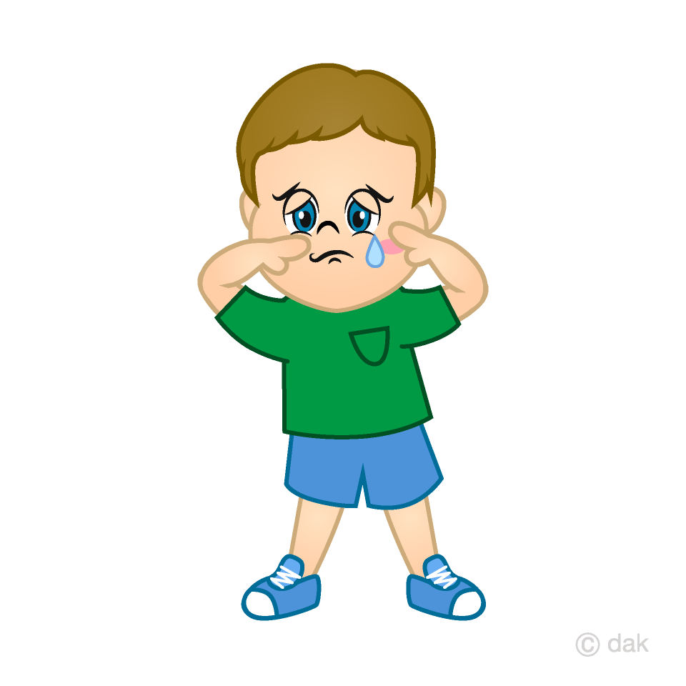 Free Crying Boy Cartoon Image|Illustoon.