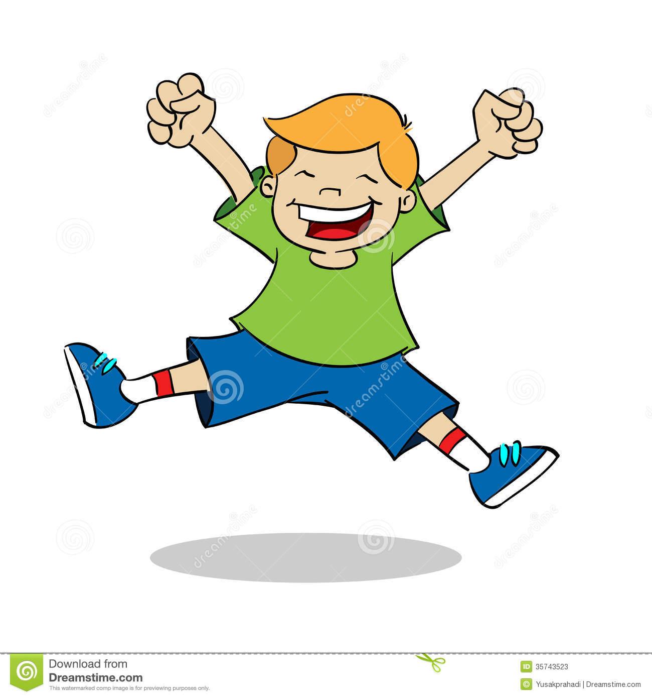 Boy Jumping Clipart.