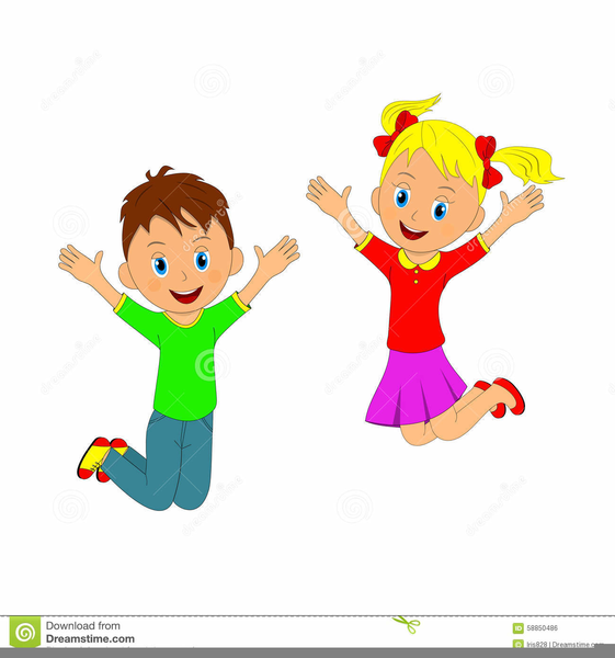 Children Jumping Clipart Free.