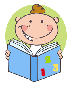Clipart Child Reading A Book.