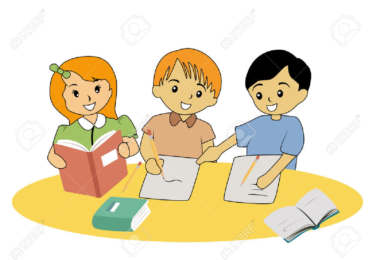 Children studying clipart 2 » Clipart Station.