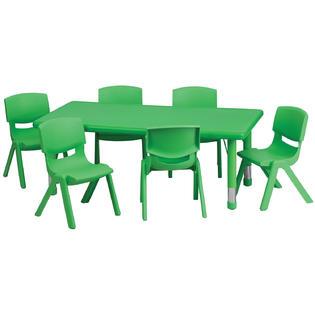 Flash Furniture Flash Furniture 24'' x 48'' Adjustable Rectangular.