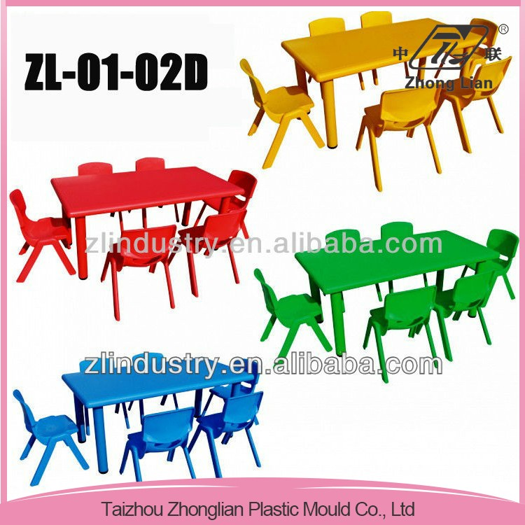 Small Size Children Plastic Kindergarten Furniture Dining Table.