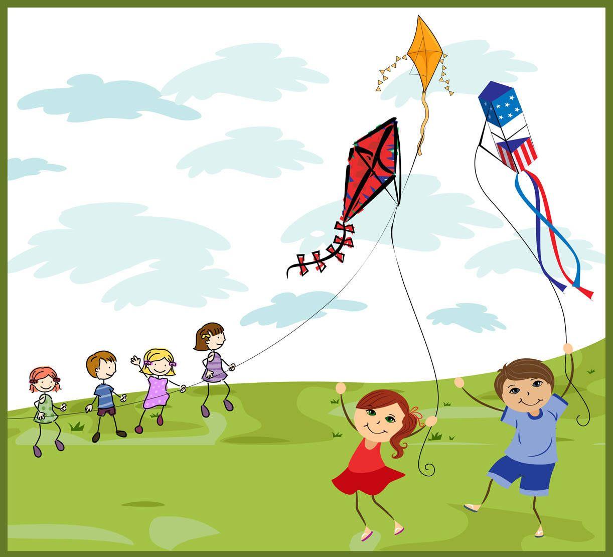 Kites + Clipart = childhood memories rushing back to us!.