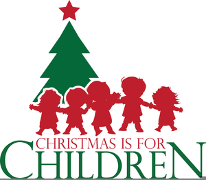 Christmas Children Singing Clipart.