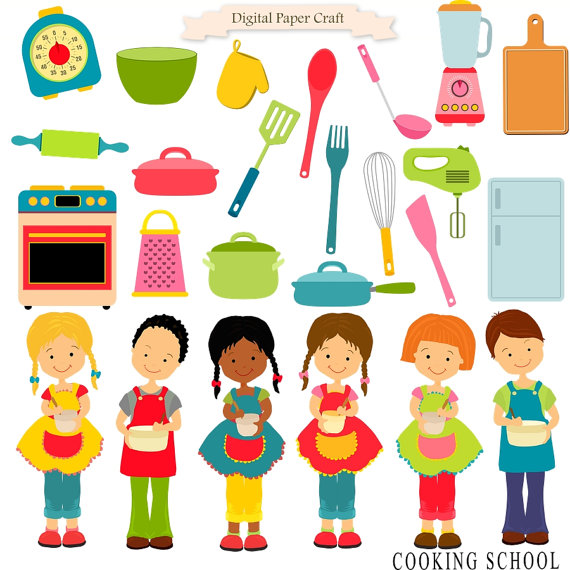 Cooking Clipart Cooking children Children Clipart Kitchen.
