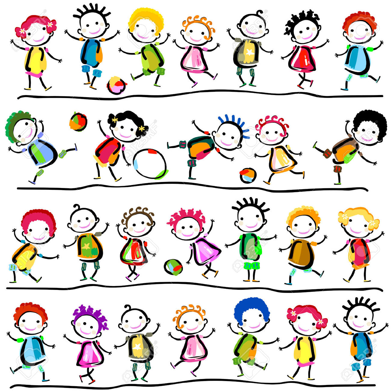 29,255 Line Drawing Children Stock Illustrations, Cliparts And.