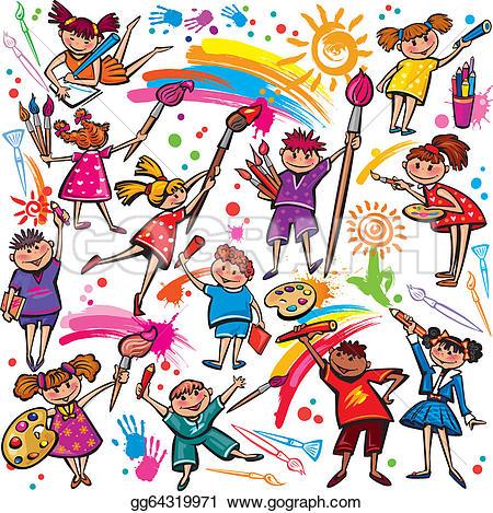 Children Drawing Clip Art.
