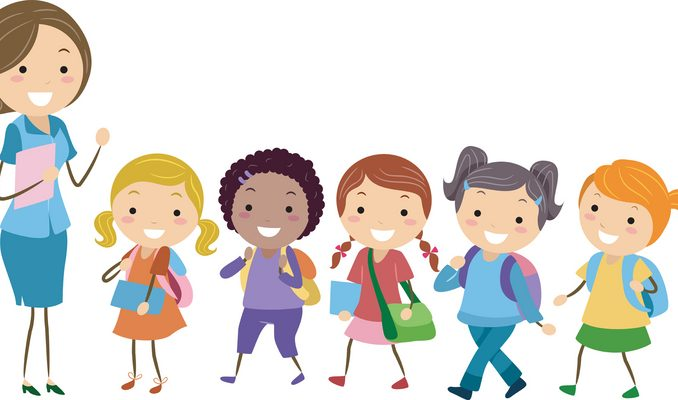 Children In Line Clipart.