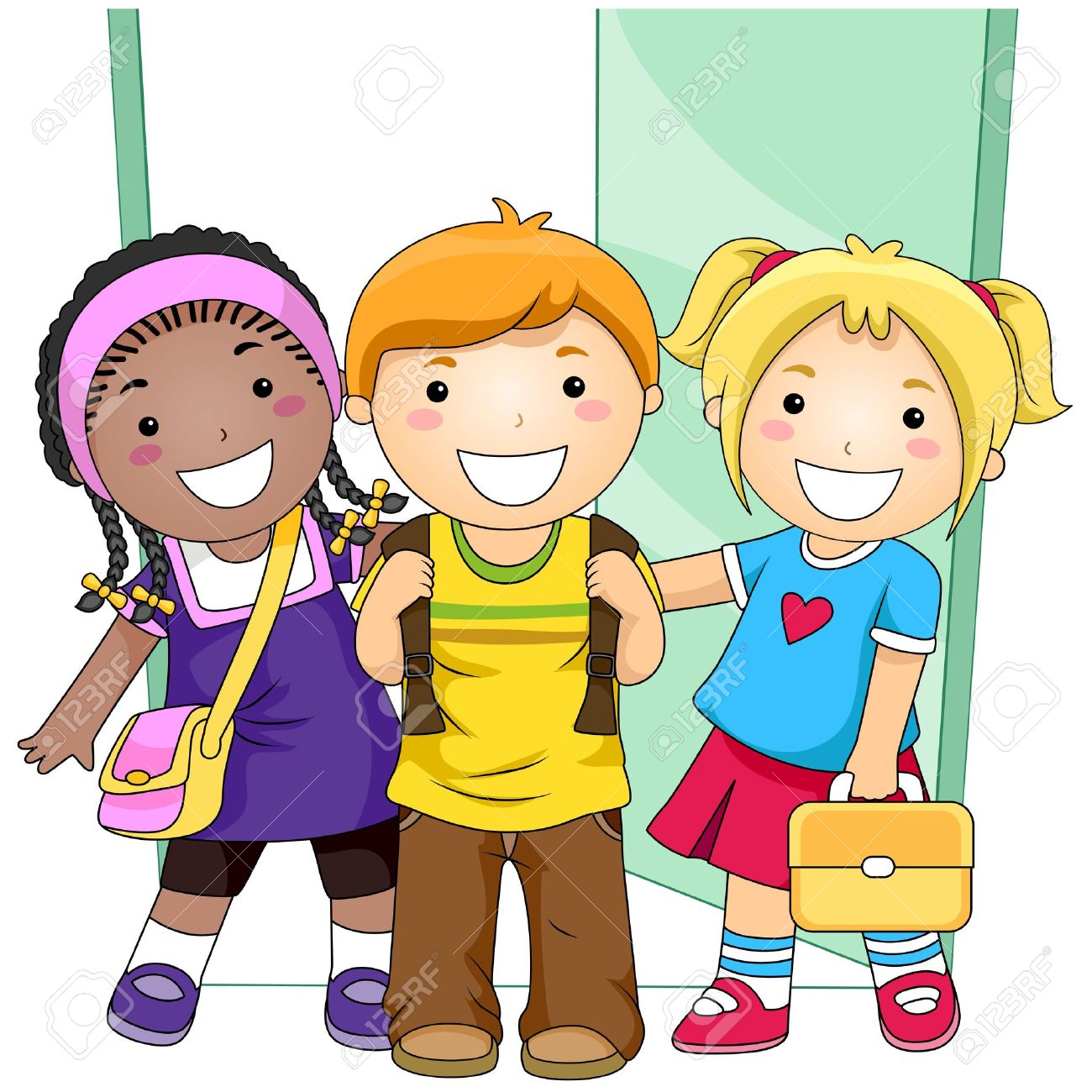 Students Outside Classroom Stock Photo, Picture And Royalty Free.