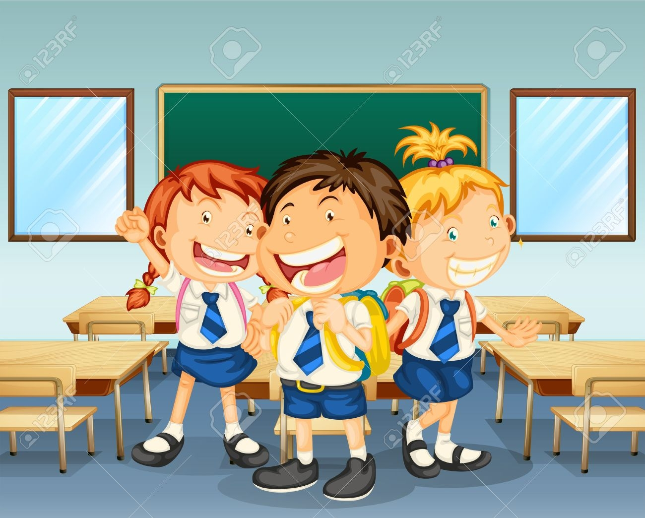 Children In Classroom Clipart.
