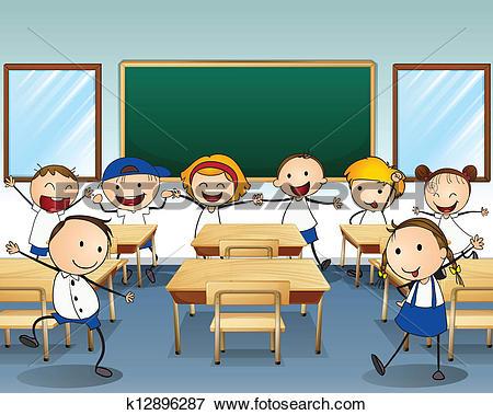 Classroom children Clipart and Illustration. 6,811 classroom.