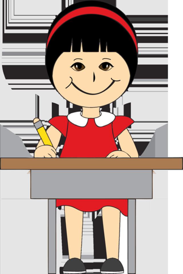 clipart children in school desks - Clipground