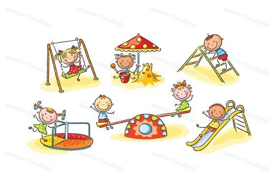 Set of kids playing outdoors, kids clipart, clipart children, doodle svg,  clipart, kids svg, image svg, png files, clipart svg.