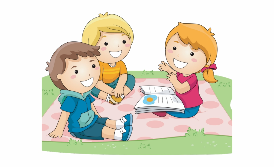 Picture Stock Children Playing Outside Clipart.