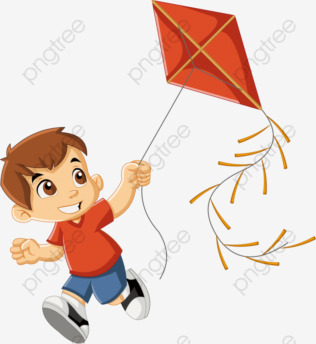 Children Playing Outside, Children Clipart, Entertainment, Fly A.