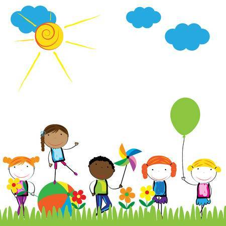 Clipart children playing outside 5 » Clipart Portal.
