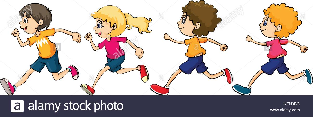 Children Running Clipart (102+ images in Collection) Page 1.