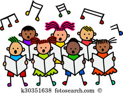 Children singing Clip Art and Stock Illustrations. 480 children.