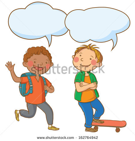Two Children Stock Vectors, Images & Vector Art.