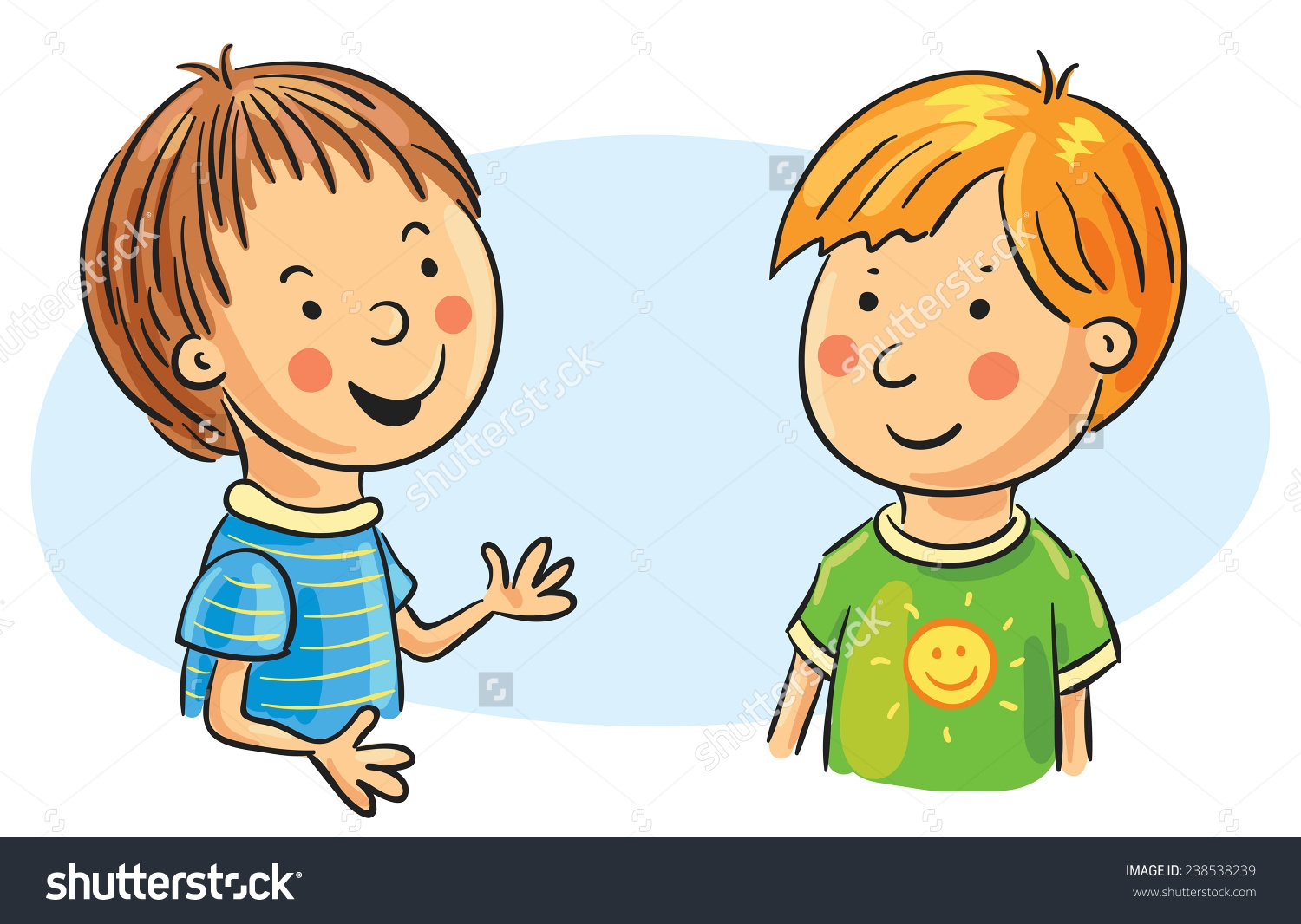 Two Children Clipart.