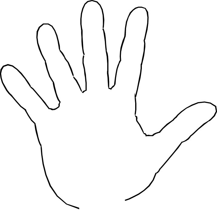 Childs hand clipart.